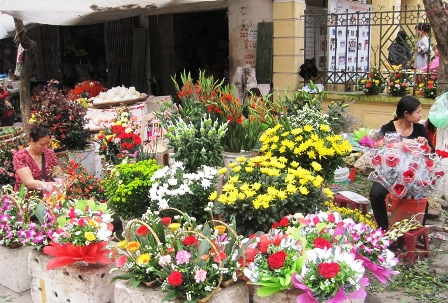 Flowers in Women's Day - Full of kinds of flowers on street in Women's Day in my country