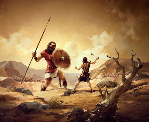 David and Goliath  - Bible story David and Goliath