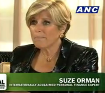 suze - being interviewed by korina sanchez