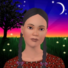 Sims avatar from Sims 3 webiste - I love playing with life. how about you?