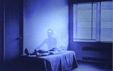 Astral Projection  - Picture of astral projection with the physical body and the astral body.