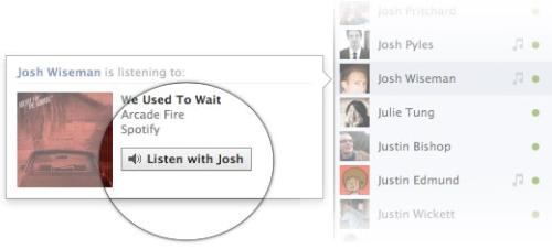 Hearing Music in facebook - This is the clue i got from my friend, about an apps that can help us listen music together in facebook chat.
