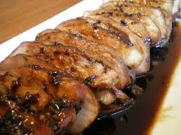 pork - A dish of pork asado.
