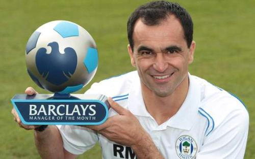 Roberto Martinez - Manager of The Month for April - Roberto Martinez has been awarded the Barclays Manager of the Month Award for the first time in his career after guiding Wigan Athletic to wins over three of the Premier League's top-four teams in April.