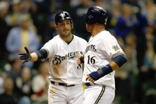 Brewers - Ryan Braun and teammate at Millers Park.