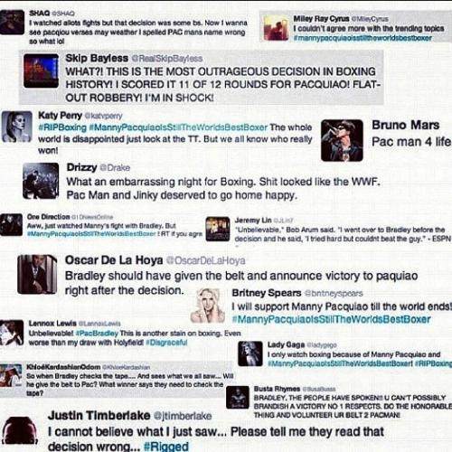 Celebrities Congratulate Manny Pacquiao on Twitter ...