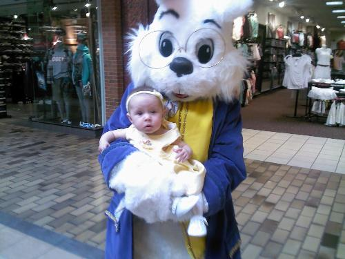 Easter bunny with Chloe - Easter bunny with Chloe. This was taken at the local mall.