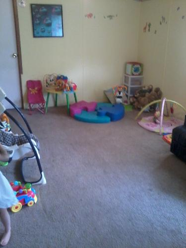 My Living Room/Playroom - This is supposed to be my living room but we use it as a playroom...