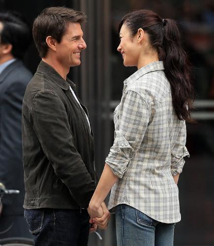 Tom Cruise and Olga Kurylenko - Co stars in Oblivion movie Tom Cruise and Olga Kurylenko