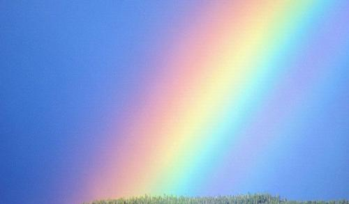 Rainbow - Rainbow is merely a large band of parallel stripes which displays a spectrum of color that make up the sun's white light.