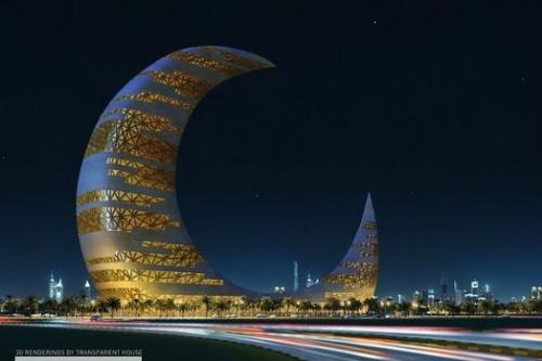 Special Skyscraper - This is Cresent Moon Tower in Dubai.