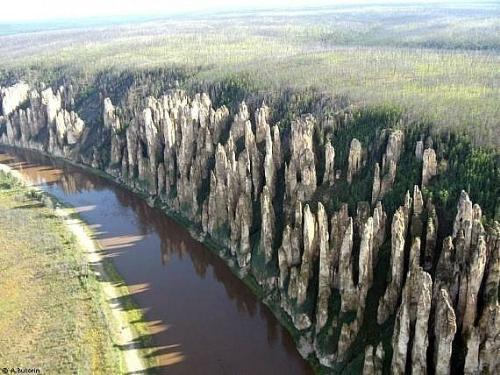 Lena Pillers - These are called Lena Pillars on the bank of Lena River in Ressia.