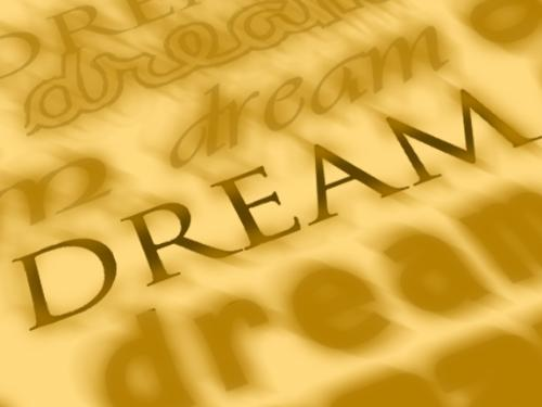dream - i made this image using photoshop. i made the word dream a little dreamy . . . i think its dreamy lol