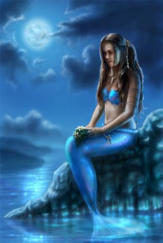 Mermaid - This picture is a mermaid visualized by man. It is not a real mermaid.