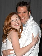 "Mr. and Mrs. Denisof or Mr. & Mrs. Hannigan? Alexi - married in 2003, now with two children, the happy couple proves that not all actor-&-actress couples end in divorce so soon ... but how long can they hang on? (cue climactic organ-music a la ""bum Bum BUMMMMM"")"
