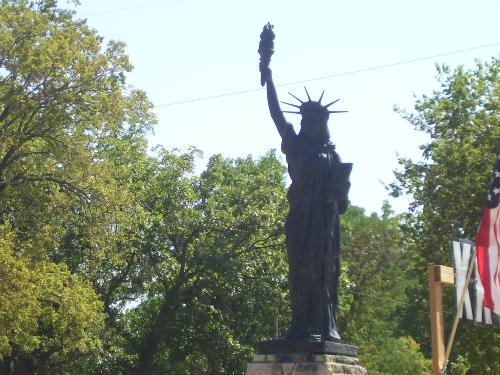 Little Liberty - A replica of the Statue of Liberty in Oakdale Park in Salina, Ks. She was purchased for the community by local Scouting organizations. The statue is about 8 ft. tall without the base. There are over 200 of these in 39 states.