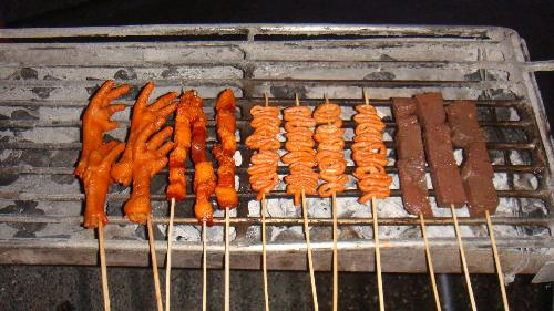 exotic foods - A variety of street foods.