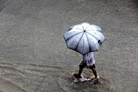 rain - flood in manila