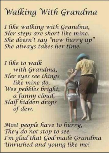 a poem for grandma - a nice message for our loving grandparents