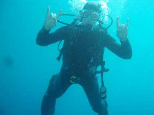 Underwater rocker - Me doing some wet Rocking....