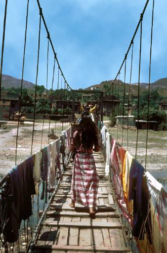 Swinging Bridge - This is swinging bridge in Khatmandu of Nepal.