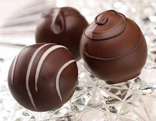Chocolate truffles for dear RozAnn - Chocolate truffles are called rum balls here at Bhubaneswar.