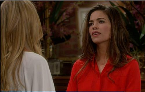 Amelia Heinle(Victoria) and Sharon Case(Sharon) - Victoria and Sharon going at it over Victor and the possibility that Sharon destroyed the prenuptial.