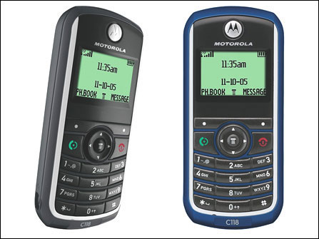 Motorola C118 - Simple phone but obsolete.