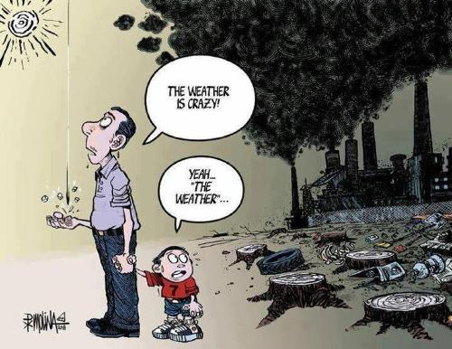 nature and weather - an image depicting the cause and effect of weather and nature and how man do tend to abuse nature