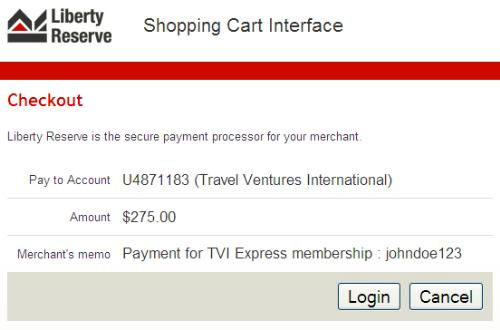 Liberty Reserve - This is a liberty reserve payment picture.