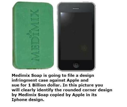 Medimix sues Apple Iphone - Medimix going to sue apple Iphone for design infringement.