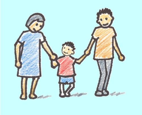 parenting style - parents with a child