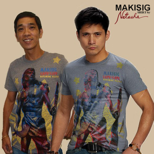 Makisig Shirt by Natasha - This is the runner-up photo of mine, me wearing the product/shirt with Philippine Actor Robin Padilla.