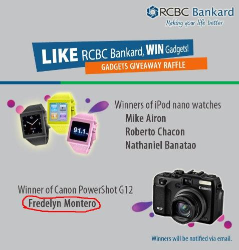 Like contest - I won an FB like contest.