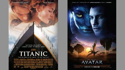 titanic and avatar posters - Titanic and Avatar posters both directed by James Cameron.