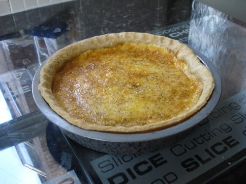 Cheese & Egg Flan - My Creation! - My latest cheese and egg flan. Love it!