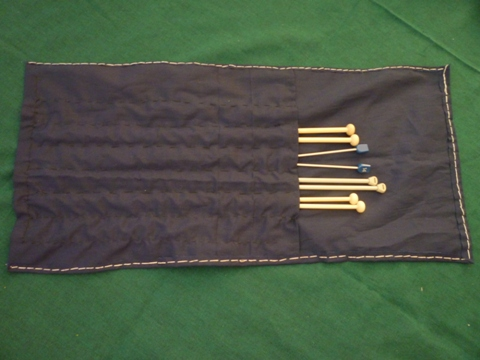 my knitting needle bag - A very simple hand-sew knitting needle bag