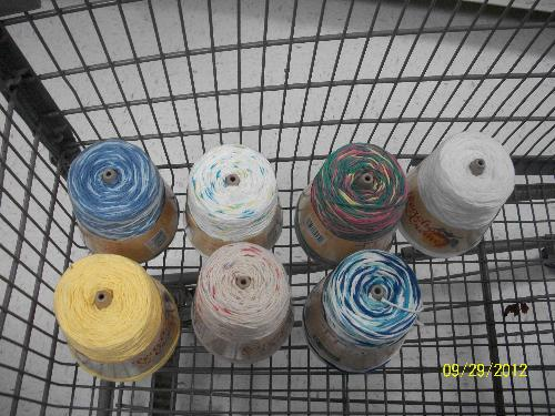 Yarn Choices - Here are my yarn choices for the dishcloths let me know what you all think of them.