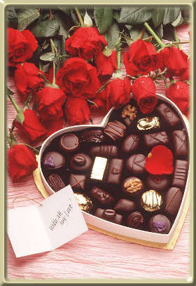 Roses and Chocolates - Bunch of roses and Bar of Chocolate