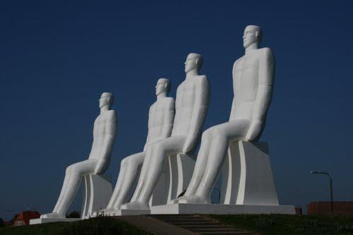 The 4 men in Esbjerg, Denmark - A huge sculpture in Esbjerg