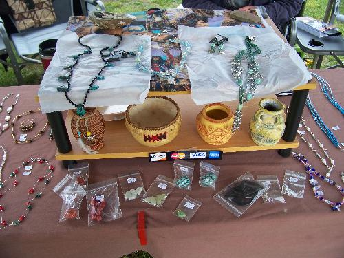 Crafting vs Working from Home - Some of the Native American jewelry I crafted and was selling at a Pow Wow