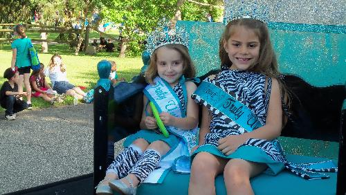 Parade - My grand daughter Savanna on the left at a parade