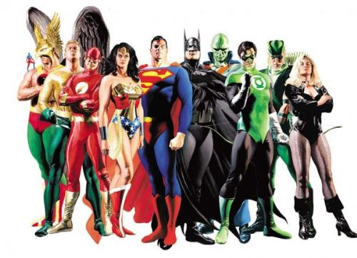 Justice league of America - A picture featuring the well known characters of the justice league
