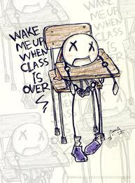 class over - wake me up when the class is over