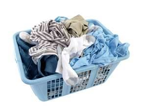 Laundry in my basket - My laundry basket full
