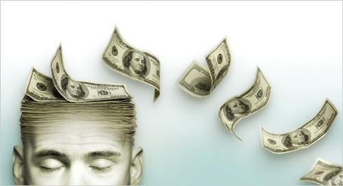 Money in mind - money is always in mind even if your not focusing on your screen,