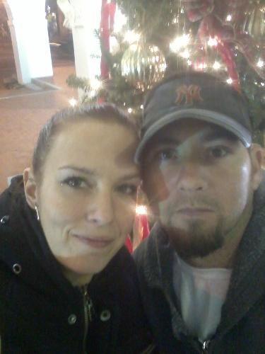 Me and Hubby! =) - This was us on our date last night.