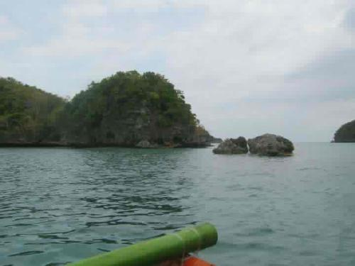 Hundred Islands - This photo was taken while we are on a boat at the Hundred Islands of the Philippines.
