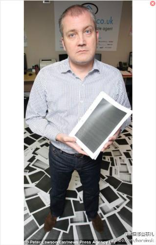 The man and the government document - 450 pages of black paper