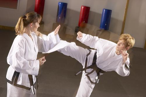 A women can save her life if she is trained in Kar - Karate is a good sports for self defense